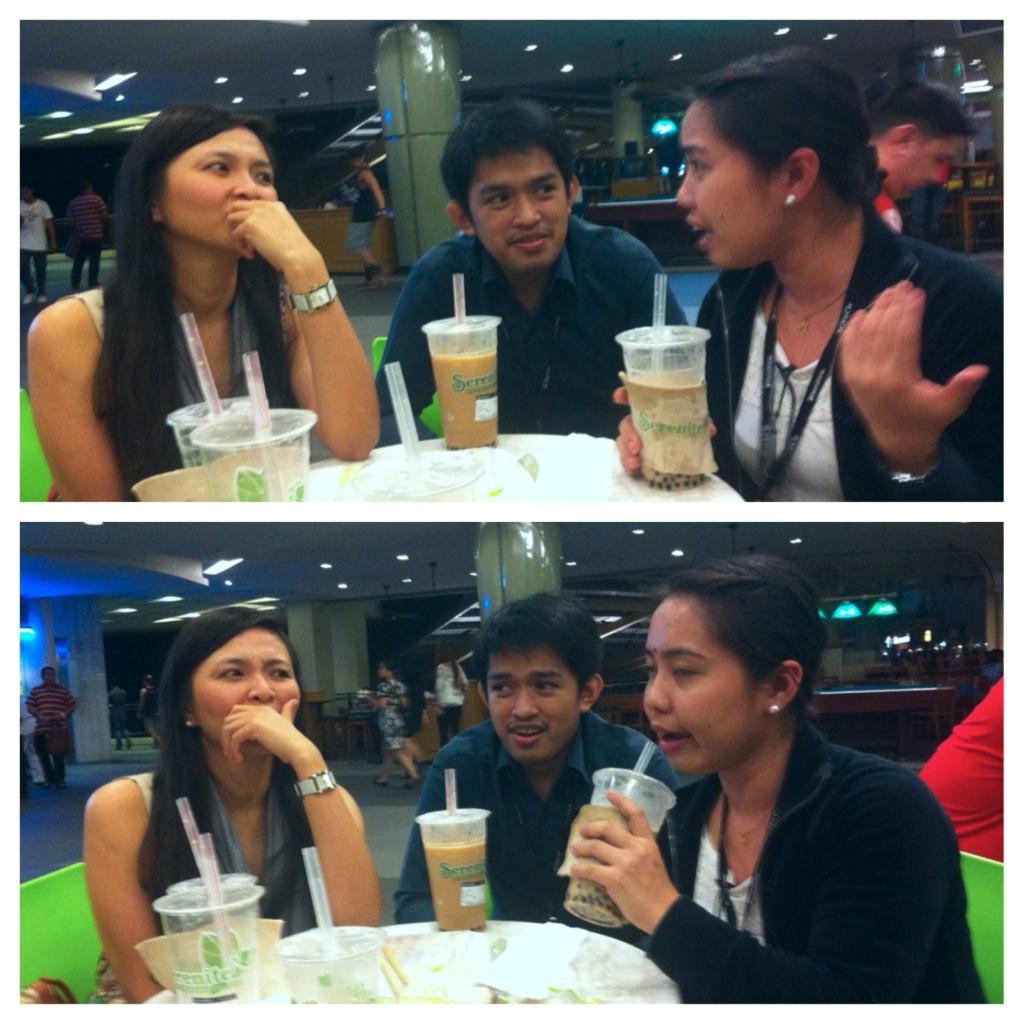 Talking about... haha! Mga chikadora! :P
